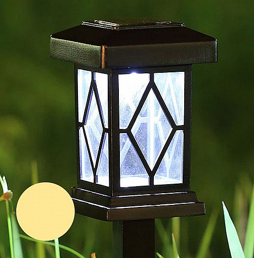 מודרני תאורה סולארית דוקרן גינה סולארי מדגם יהלום נורת לד מחליפה צבעים או GL-98